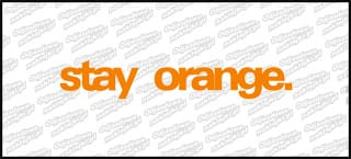 stay orange. 20cm