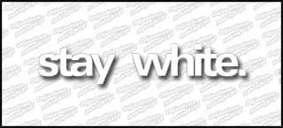 stay white. 20cm