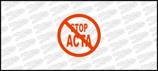 Stop ACTA 10cm czerwona