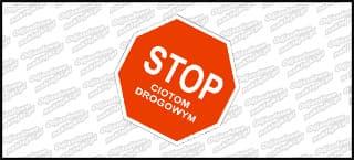 Stop Ciotom Drogowym 10cm kolor