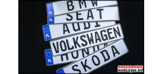 Tablica tłoczona alu BMW