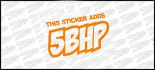 this stickers adds 5bhp 15cm pomarańczowa