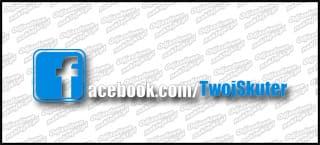 Twój Skuter facebook biała 15cm