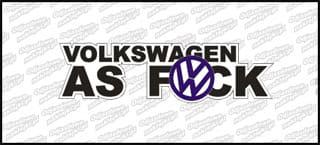 Volkswagen as fuck kolor 15cm