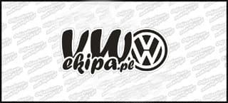 VW Ekipa 15cm czarno biała