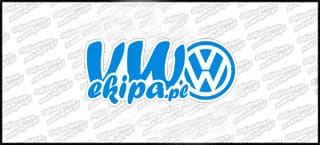 VW Ekipa 15cm niebiesko biała
