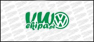 VW Ekipa 15cm zielono biała