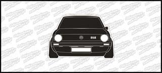 VW Golf Mk1 GTI Front 12cm biało czarny