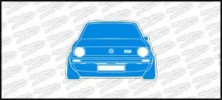 VW Golf Mk1 GTI Front 12cm biało niebieski