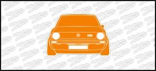 VW Golf Mk1 GTI Front 12cm biało pomarańczowy