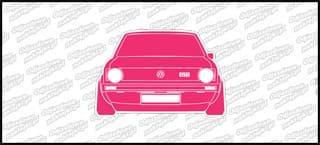 VW Golf Mk1 GTI Front 12cm biało różowy