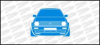 VW Golf Mk2 Front 12cm biało niebieski