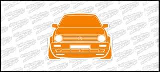 VW Golf Mk2 Front 12cm biało pomarańczowy