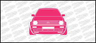 VW Golf Mk2 Front 12cm biało różowy
