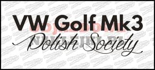 VW Golf Mk3 Polish Society 15cm