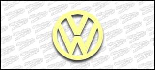 VW Logo 10cm Beige