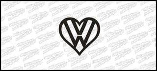 VW logo serce 10cm
