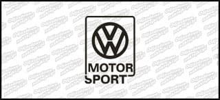 VW Motorsport 10cm biała