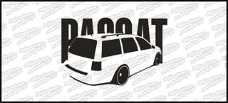 VW Passat Kombi 15cm czarna naprasowanka