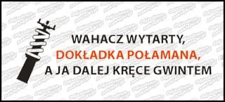 Wahacz wytarty Dokładka Połamana 15cm czarno czerwona