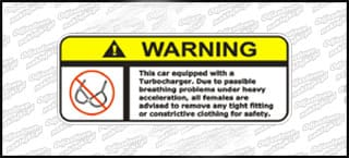 Warning Turbocharger