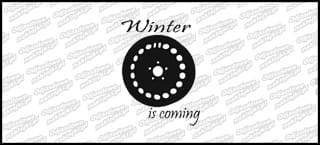 Winter Is Coming steel wheel 15cm