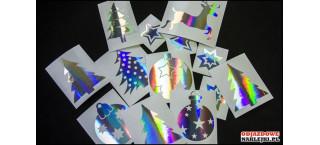 Zestaw naklejek na święta B Hologram