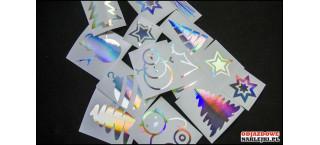 Zestaw naklejek na święta C Hologram